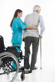 Senior care. Royalty Free Stock Photography