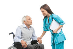 Senior care. Royalty Free Stock Photo