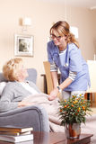 Senior care at home Stock Photography