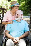 Senior Caretaker stock photography