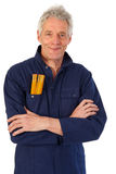 Senior carpenter Stock Images