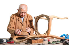 Senior carpenter Royalty Free Stock Photography