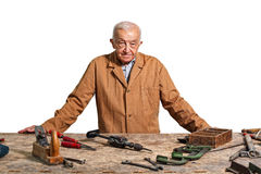 Senior carpenter. Fine portrait of aged craftman Stock Photography