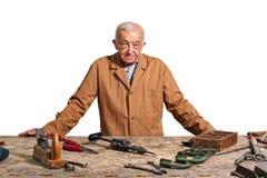 Senior carpenter Stock Photography