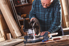 Senior carpenter Royalty Free Stock Images