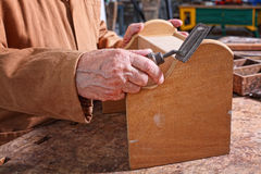 Senior carpenter detail Royalty Free Stock Photography
