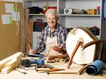 Senior carpenter Royalty Free Stock Photos
