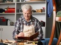 Senior carpenter Royalty Free Stock Photo