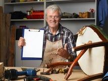 Senior carpenter portrait Royalty Free Stock Photo