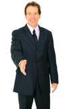 Senior Caucasian Businessman Offer Handshake Royalty Free Stock Photos