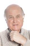 Senior Caucasian confident man smiling Royalty Free Stock Photography