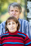 Senior Caucasian couple head and shoulders portrait Stock Photography