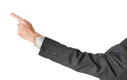 Senior caucasian executive pointing finger and isolated stock images