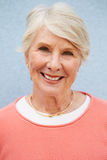 Senior Caucasian woman, vertical head and shoulders portrait Stock Images