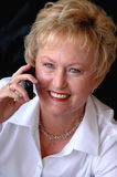 Senior on cell phone Stock Photo