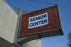Senior Center Sign Stock Images