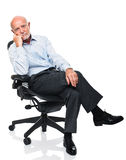 Senior on chair Stock Photos