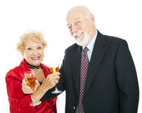 Senior Champagne Celebration Stock Photography