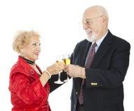 Senior Champagne Toast Royalty Free Stock Photos