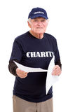 Senior charity worker Stock Photo