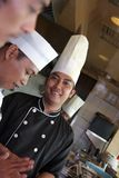 Senior chef stock photography