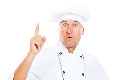 Senior chef have the idea Stock Image