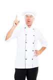 Senior chef have a idea Royalty Free Stock Photos