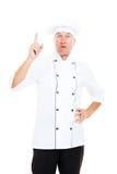 Senior chef have a idea Royalty Free Stock Photos