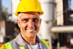 Senior chemical worker Royalty Free Stock Images