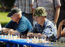 Senior chess competition Stock Photos