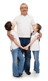 Senior with children family portrait Royalty Free Stock Photo