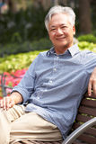Senior Chinese Man Relaxing Royalty Free Stock Photo