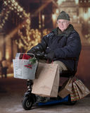 Senior Christmas Shopper Royalty Free Stock Image