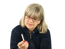 Senior with Cigarette Royalty Free Stock Image