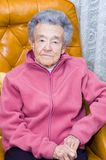 Senior Citizen. Elderly senior citizen sitting in a recliner Stock Photos