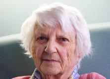 Senior citizen. Beautiful 93yr old Senior citizen portrait stock image
