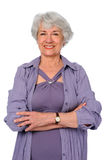 Senior Citizen With Arms Crossed Stock Image
