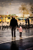 Senior Citizen With His Granddaughter Royalty Free Stock Photo