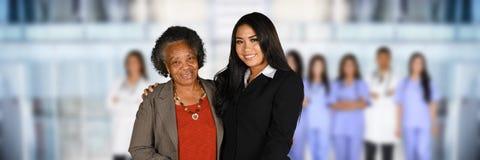 Senior Citizen At Hospital Stock Photo