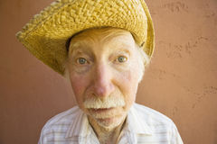 Senior Citizen Man in a Cowboy Hat Stock Photography