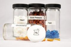 Senior Citizen Medication stock photography
