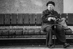 Senior citizen. An old Belarusian Senior citizen Stock Images