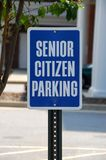 Senior citizen parking sign Royalty Free Stock Photography
