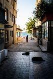 Senior Citizen In Turkish Seaside Town. Senior citizen in a relatively small Turkish town in Marmara region of country Turkey. An ideal imagery to inform Royalty Free Stock Image