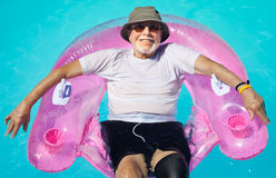 Senior citizen relaxing Stock Photos