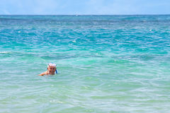 Senior Citizen Snorkeling Stock Photography