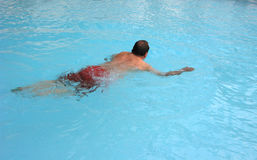 Senior citizen swimming Royalty Free Stock Photo