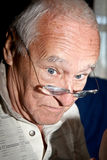 Senior Citizen Wearing Glasses Royalty Free Stock Photography