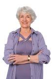 Senior Citizen Woman. Attractive senior citizen woman in exercise clothes stock photos