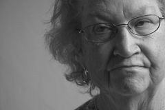 Senior Citizen Woman-6999. Detail portrait of a senior citizen woman Royalty Free Stock Images
